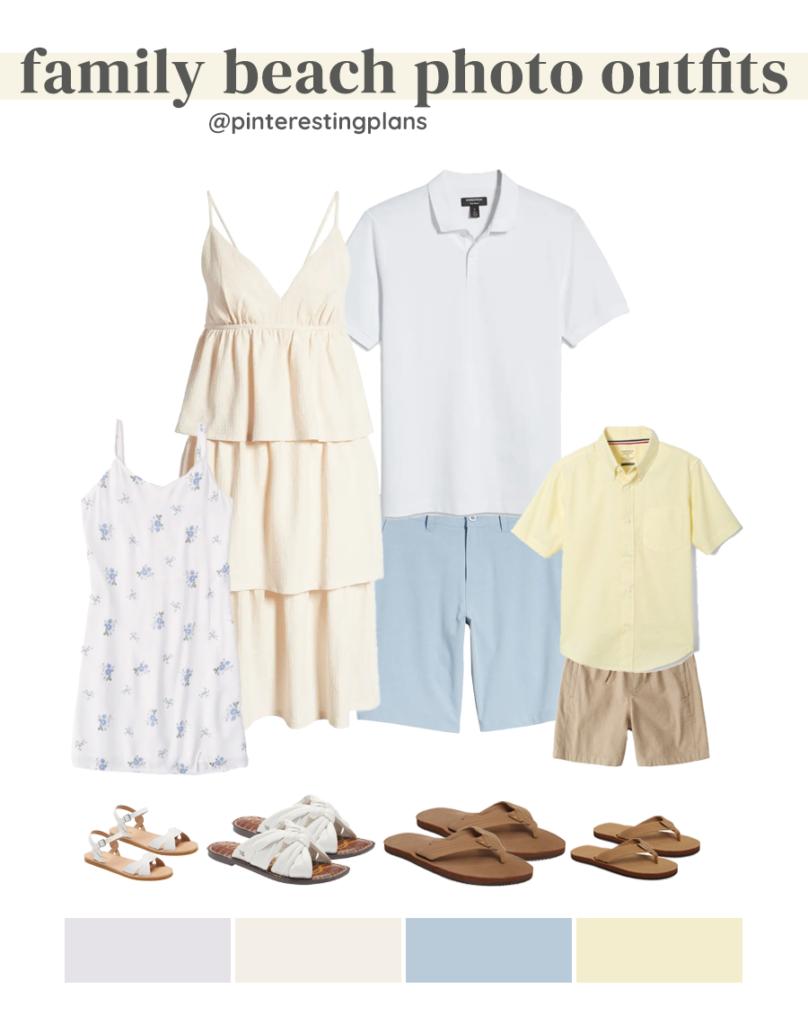 outfit ideas for summer beach family photos 2021