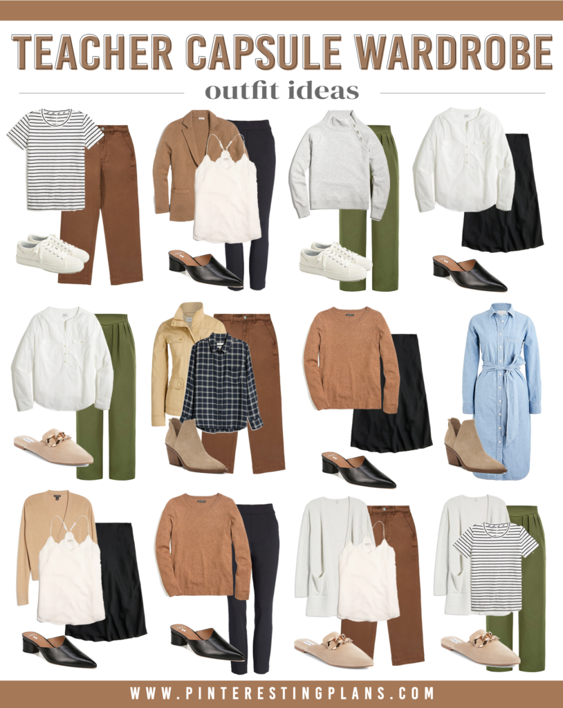 capsule wardrobe for teacher fall outfit ideas 2021