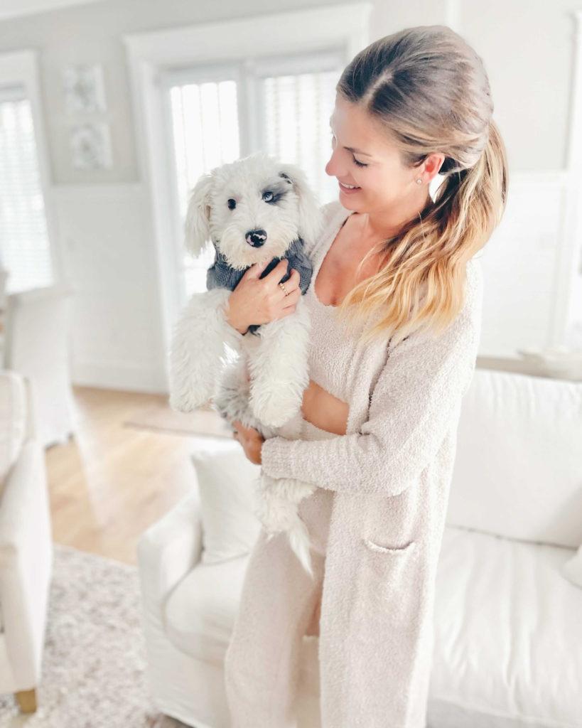 cozy cream long knit robe cardigan