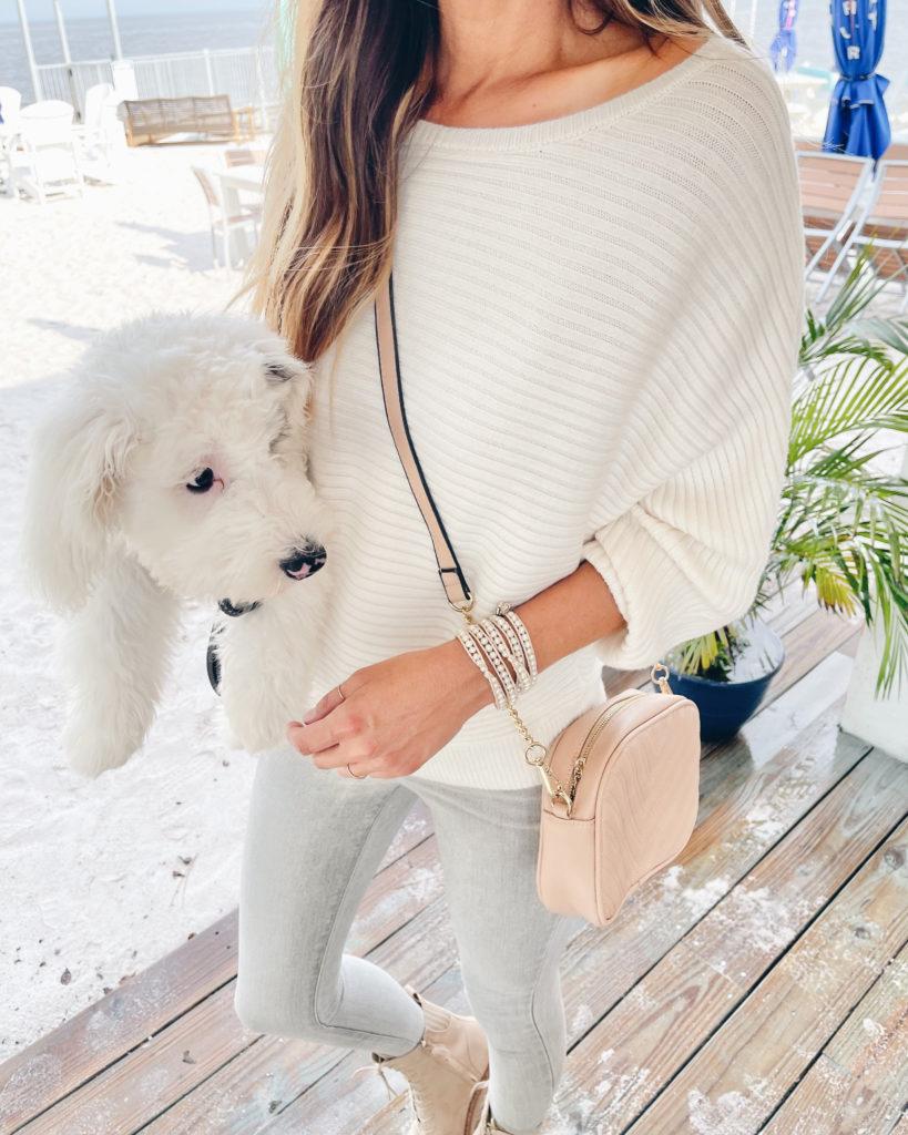 express cream dolman sleeve sweater