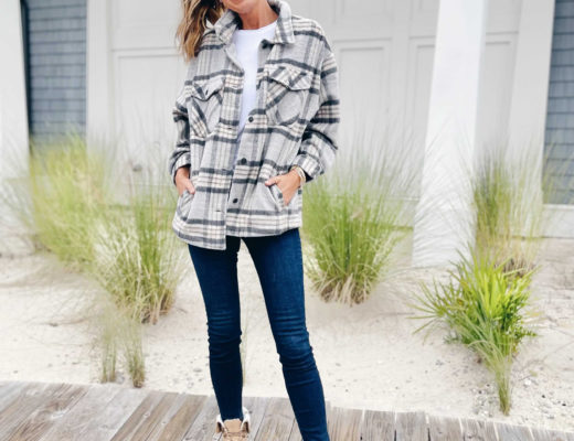 how to style a plaid shacket